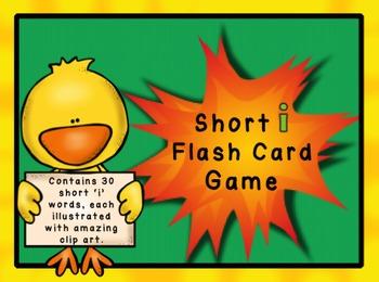 Short I Flashcard Game - CVC Words
