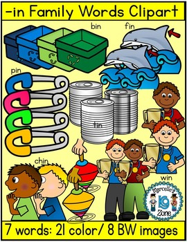 Short vowel i clipart- IN Words Clipart  (7 words- 29 images)