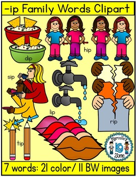 Short vowel i clipart- IP Words Clipart  (7 words-32 images)