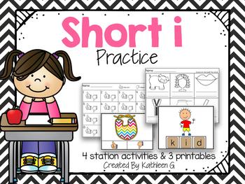 Short I Literacy Station Pack