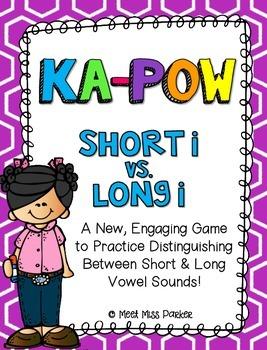 Short I & Long I (VCe) Kapow Literacy Center / Game