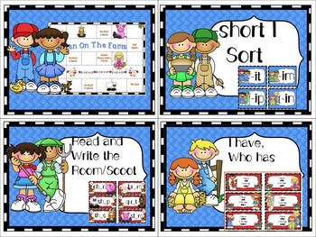 Short I Phonics Centers and Activities