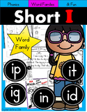 Short I Phonics Practice Printables for Word Families (it, in, ip, ig, id)