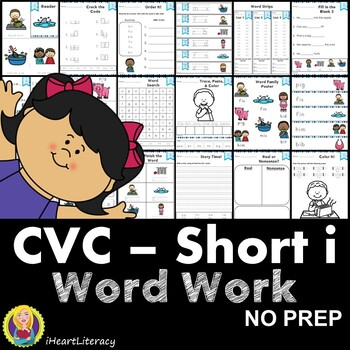 CVC Short I Word Work and Activities