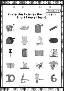 Short I Vowel Reader & Worksheets & Flashcards: Tim the Pig