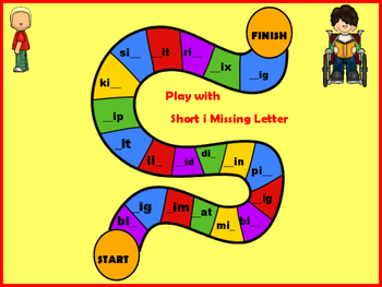 CVC Short Vowel I Word Work and Games pack