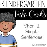 Short I Simple Sentences Task Cards
