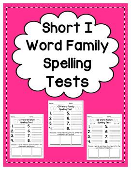 Short I: Spelling Tests