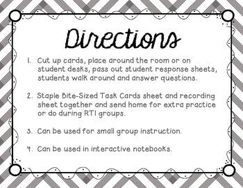 Short I Tiny Task Cards