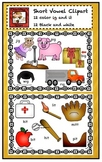 Short I Vowel Clipart Set - Ig Family and It Family
