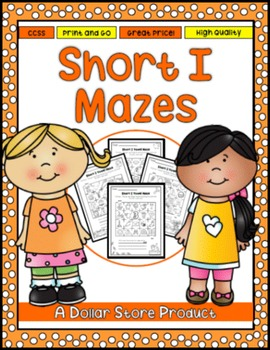 Short I Vowel Maze Practice Printables