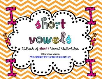 Short I Word Work Pack - No Prep!