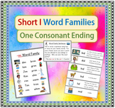 Short I Word Families/ Activities, Posters, & Definitions
