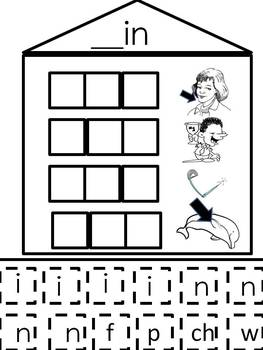 "Short ""I"" Word Families Word Building Activity"
