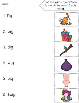 Short I Word Families for Kindergarten and First Grade