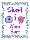 Short I Word Family Sort, CVC words and more