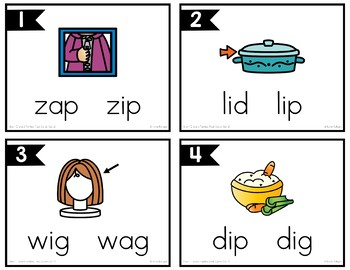 Short I Word Family Task Cards
