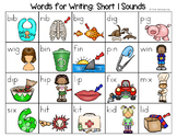 Short I Word List - Writing Center