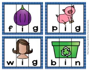 Short I Words CVC Puzzles