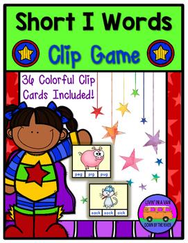 SHORT I Words - Clip Game