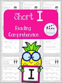 Short I Words Reading Comprehension
