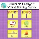 Short I and Long I Vowel Sorting Cards