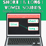 Short I and Long I Vowel Sounds Google Classroom Activities