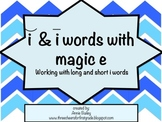 Short I and Long I Word Study Sort and Activities with Magic E