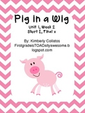 """Short I word packet: Compatible with Reading Street story """"Pig in a Wig"""""""