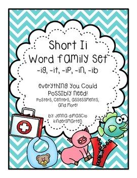 Short Ii Word Family Pack {-ig, -ip, -in, -it, -ib}