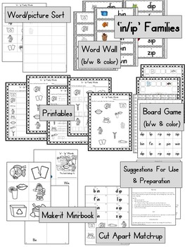 Short Ii Word Work, Games and Printables