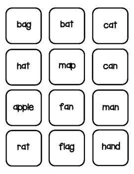 Short & Long A Picture & Word Sorting Activity