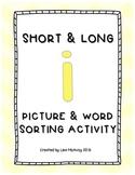 Short & Long I Picture & Word Sort