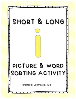Short & Long I Picture & Word Sort
