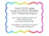 Short/Long O Sort Cards