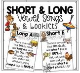 Short Vowel Songs & Long Vowel Songs BUNDLE   Vowel Sounds Songs