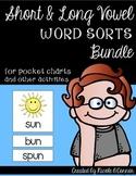 Short & Long Vowel BUNDLE: Word Sort Cards for Pocket Charts & More!