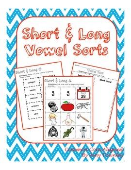 Short & Long Vowel Beginning Sounds Sort