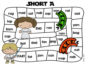 Sight Word Short & Long Vowel Game Boards