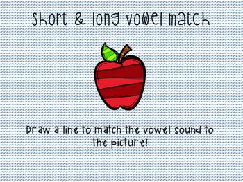 Short & Long Vowel Match!