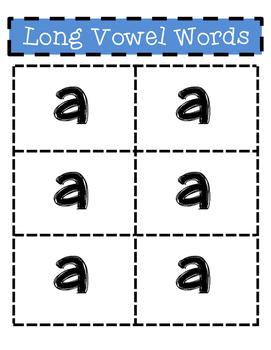 Short & Long Vowel Review Activity