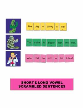 Short & Long Vowel Scrambled Sentences