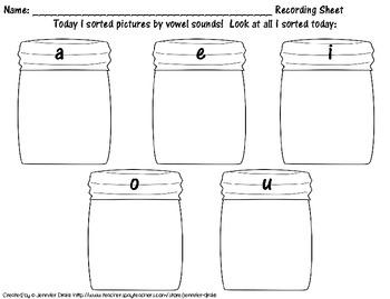 Short & Long Vowel Sound Sort; Cookie Jar Version! ~100 Pictures To Sort~