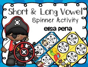 Short & Long Vowel Sound Spinner Activity Pirate Theme