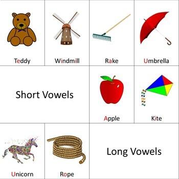Short & Long Vowel Sounds Cut, Sort & Paste