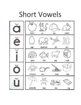 Short & Long Vowel Sounds - Phonemic Awareness / Phonological Awareness