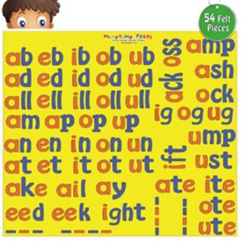 Short & Long Vowel Word Families Felt Activity Set
