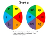 Short & Long Vowel Word Spinners