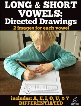 Short & Long Vowels: Directed Drawings Bundle