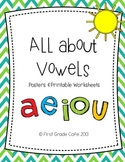 Short & Long Vowels Posters & Printable Worsheets